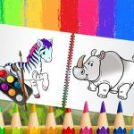 Livro de colorir de animais engraçados
