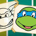 Desenhos para colorir Tartarugas Ninja